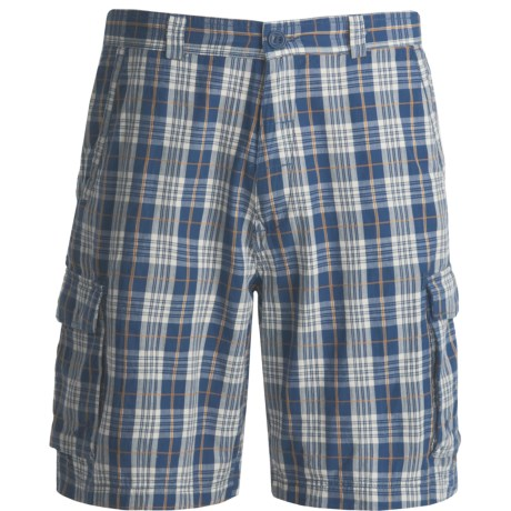 Dakota Grizzly Enzo Plaid Cargo Shorts (For Men) in Lake