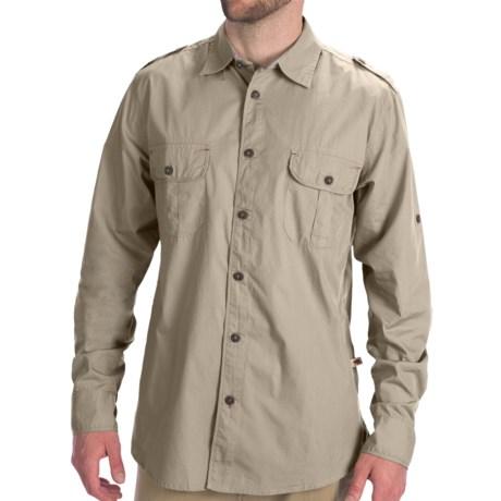 Dakota Grizzly Gart Poplin Shirt - Convertible Long Sleeve (For Men) in Birch