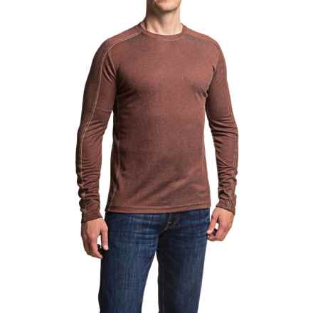 Dakota Grizzly Grif Crew Neck Shirt - Long Sleeve (For Men) in Rum - Closeouts