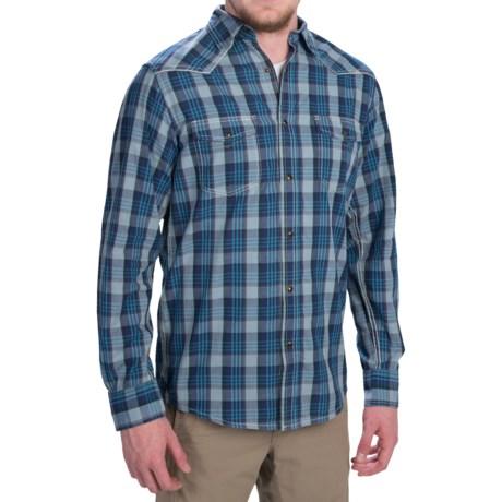 Dakota Grizzly Harper Shirt - Long Sleeve (For Men) in Aqua