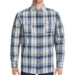 Dakota Grizzly Hogan Cotton Jacquard Shirt - Long Roll-Up Sleeve (For Men) in Indigo