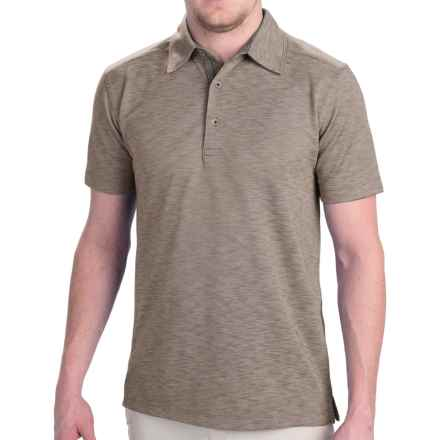 Dakota Grizzly Hugo Polo Shirt - Short Sleeve (For Men) in Sand - Closeouts