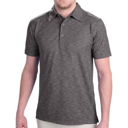 Dakota Grizzly Hugo Polo Shirt - Short Sleeve (For Men) in Tar - Closeouts