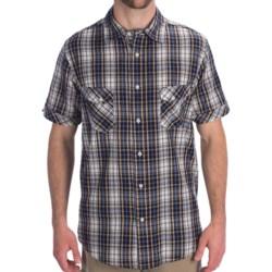 Dakota Grizzly Jake Cotton Plaid Shirt - Short Sleeve (For Men) in Navy