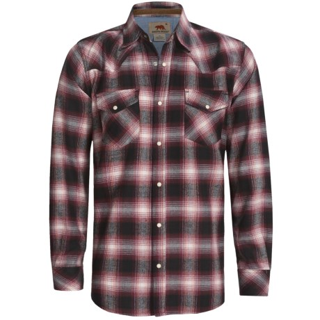 Dakota Grizzly Keaton Flannel Shirt - Long Sleeve (For Men) in Chili