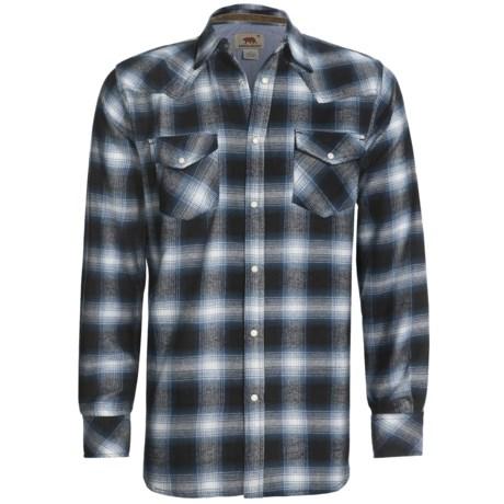 Dakota Grizzly Keaton Flannel Shirt - Long Sleeve (For Men) in Indigo