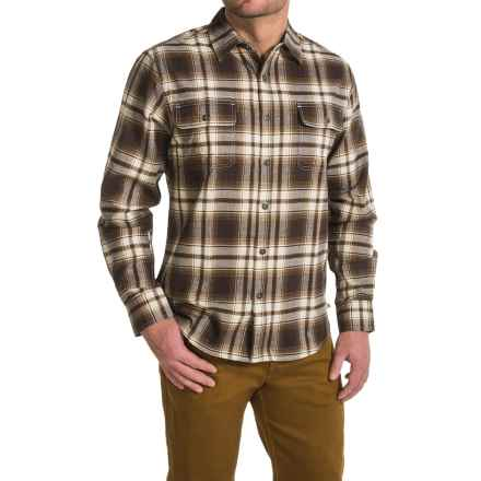 Dakota Grizzly Kendall Flannel Shirt - Long Sleeve (For Men) in Cocoa - Closeouts