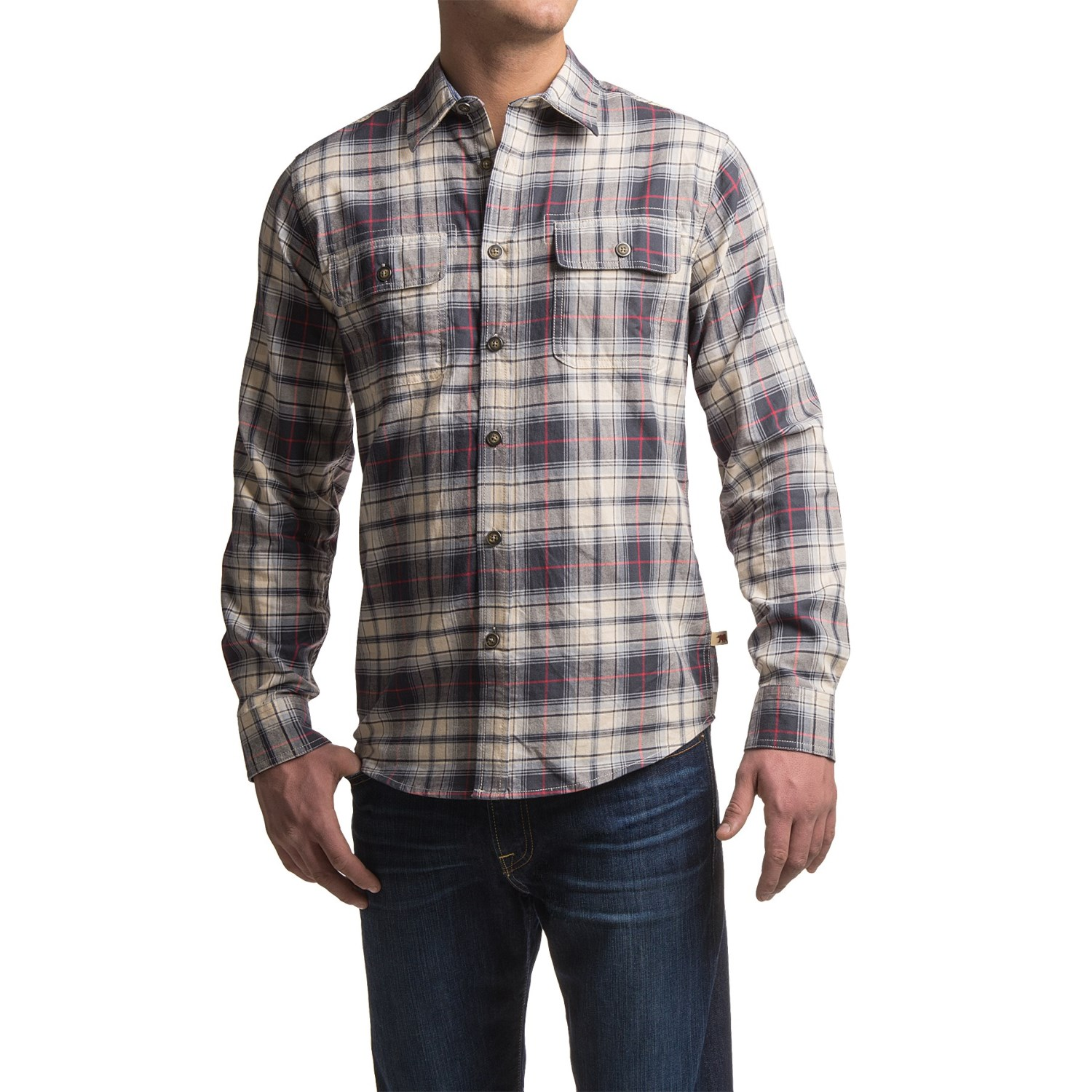 Dakota grizzly kendall flannel shirt for men save 78 for Mens long sleeve flannel shirts