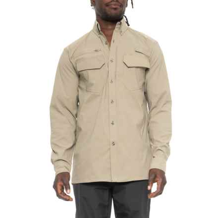 Dakota Grizzly Khaki Stretch Trail Shirt - UPF 30+, Long Sleeve ( For Men) in Khaki - Closeouts