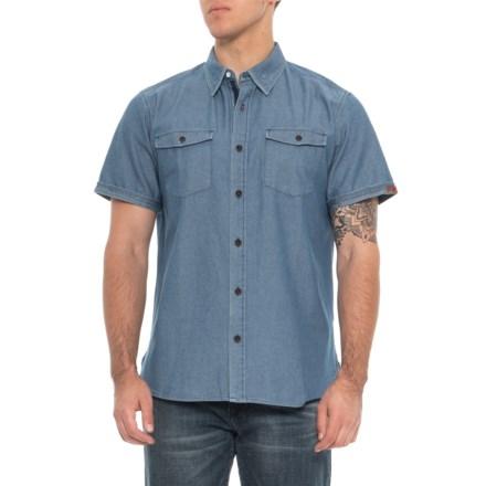 07267749 Dakota Grizzly Kirby Twill Shirt - Short Sleeve (For Men) in Ocean -  Overstock