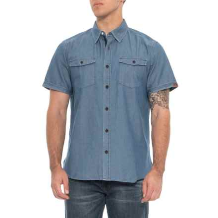 Dakota Grizzly Kirby Twill Shirt - Short Sleeve (For Men) in Ocean - Overstock