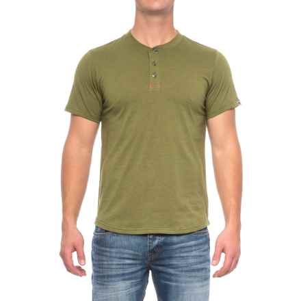 Dakota Grizzly Ladd Henley Shirt - Short Sleeve (For Men) in Peridot - Closeouts