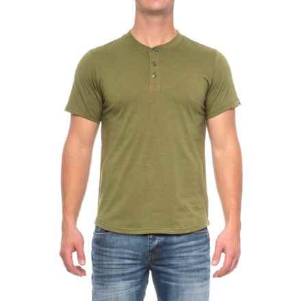 Dakota Grizzly Ladd Henley Shirt - Short Sleeve (For Men) in Peridot - Closeouts