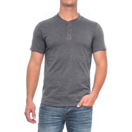 Dakota Grizzly Ladd Henley Shirt - Short Sleeve (For Men) in Pewter - Closeouts