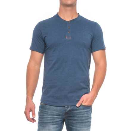 Dakota Grizzly Ladd Henley Shirt - Short Sleeve (For Men) in Sapphire - Closeouts