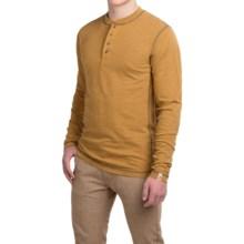 Dakota Grizzly Landon Slub Henley Shirt - Long Sleeve (For Men) in Amber - Closeouts