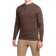 Dakota Grizzly Landon Slub Henley Shirt - Long Sleeve (For Men) in Java - Closeouts