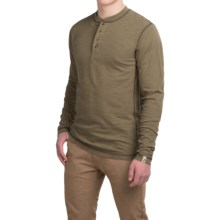Dakota Grizzly Landon Slub Henley Shirt - Long Sleeve (For Men) in Moss - Closeouts
