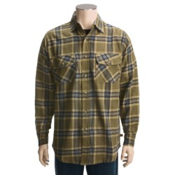 Dakota Grizzly Logger Flannel Shirt - Long Sleeve (For Men) in Olive