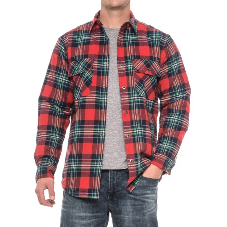 Dakota Grizzly Mack Flannel Shirt - Sherpa Lined, Long Sleeve (For Men) in Berry