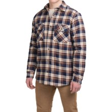 Dakota Grizzly Mack Flannel Shirt - Sherpa Lined, Long Sleeve (For Men) in Coffee - Closeouts