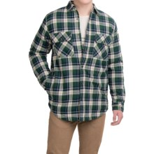 Dakota Grizzly Mack Flannel Shirt - Sherpa Lined, Long Sleeve (For Men) in Hunter - Closeouts