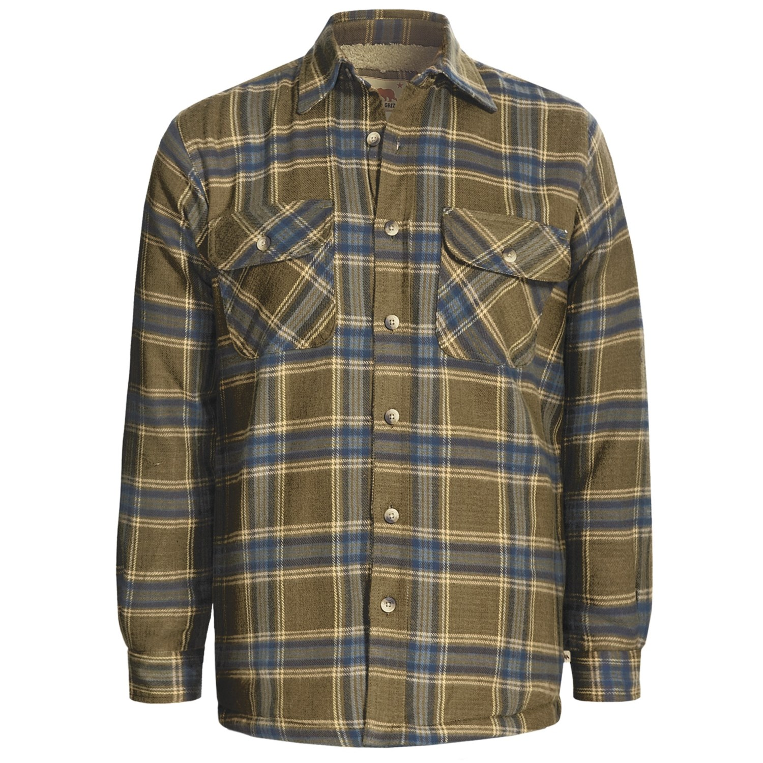 Fleece Lined Flannel Shirt Mens Images Sherpa