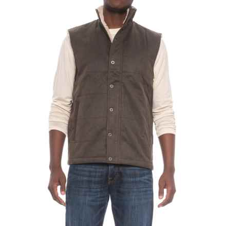 Dakota Grizzly Mason Vest - Snap Front, Fleece Lined (For Men) in Tobacco - Closeouts