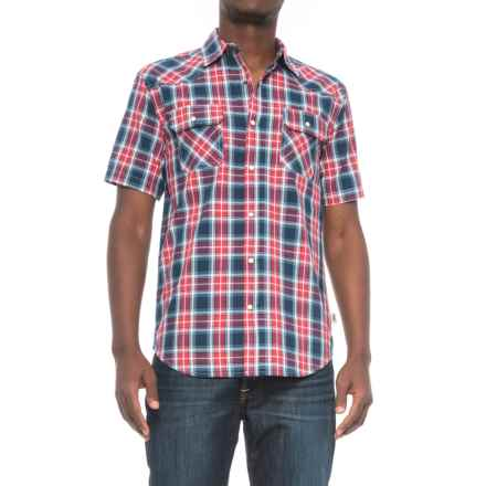 Dakota Grizzly Max Plaid Shirt - Snap Front, Short Sleeve (For Men) in Garnet - Closeouts