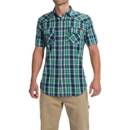 Dakota Grizzly Max Plaid Shirt - Snap Front, Short Sleeve (For Men) in Kale - Closeouts