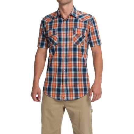 Dakota Grizzly Max Plaid Shirt - Snap Front, Short Sleeve (For Men) in Nectar - Closeouts