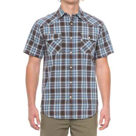 Dakota Grizzly Max Plaid Shirt - Snap Front, Short Sleeve (For Men) in Smoke - Closeouts