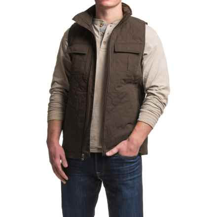 Dakota Grizzly Milo Vest - Insulated, Cotton Blend (For Men) in Bark - Closeouts
