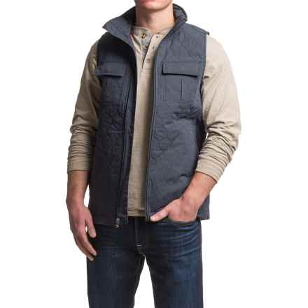 Dakota Grizzly Milo Vest - Insulated, Cotton Blend (For Men) in Navy - Closeouts