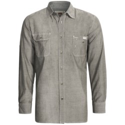 Dakota Grizzly Nelson Vintage Work Shirt - Slub Chambray Cotton, Long Sleeve (For Men) in Petro