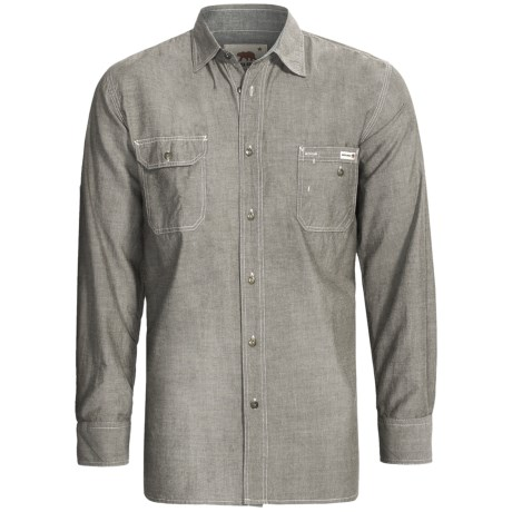 Dakota Grizzly Nelson Vintage Work Shirt - Slub Chambray Cotton, Long Sleeve (For Men) in Steel
