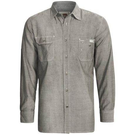 Dakota Grizzly Nelson Vintage Work Shirt - Slub Chambray Cotton, Long Sleeve (For Men) in Steel