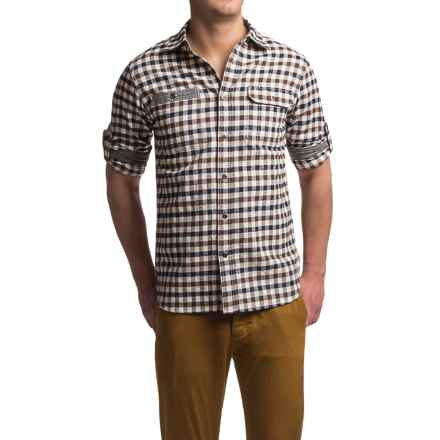 Dakota Grizzly Oliver Vintage Flannel Shirt - Roll-Up Long Sleeve (For Men) in Coffee - Closeouts