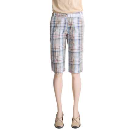 Dakota Grizzly OSO Republic Beah Shorts - Cotton Poplin Plaid (For Women) in Pond - Closeouts