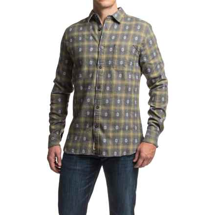 Dakota Grizzly Owen Dobby Flannel Shirt - Long Sleeve (For Men) in Moss - Closeouts