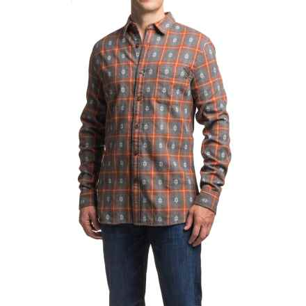 Dakota Grizzly Owen Dobby Flannel Shirt - Long Sleeve (For Men) in Picante - Closeouts