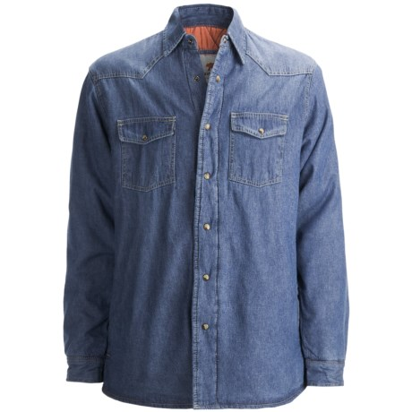 Dakota Grizzly Ponderosa Denim Shirt Jacket (For Men) in Vintage Indigo