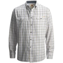 Dakota Grizzly Randall Plaid Shirt - Cotton Chambray, Long Sleeve (For Men) in Avacado - Closeouts