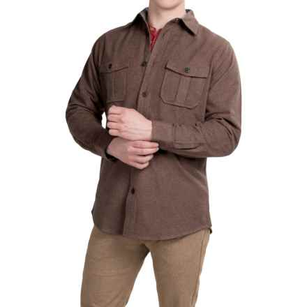 Dakota Grizzly Ranger Brushed Heathered Chamois Shirt - Long Sleeve (For Men) in Chocolate - Closeouts