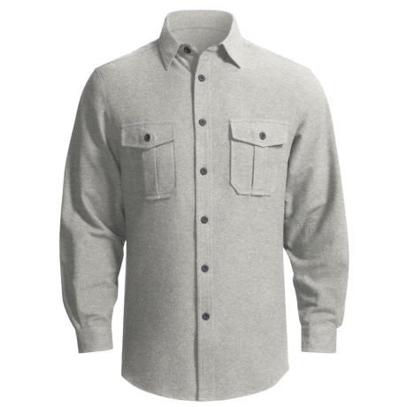 Dakota Grizzly Ranger Brushed Heathered Chamois Shirt - Long Sleeve (For Men) in Flint