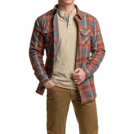 Dakota Grizzly Shayne Flannel Shirt - Long Sleeve (For Men) in Picante - Closeouts