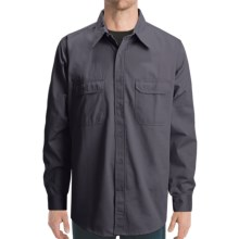 Dakota Grizzly Solid Twill Shirt - Long Sleeve (For Men) in Black - Closeouts