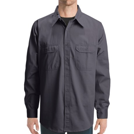 Dakota Grizzly Solid Twill Shirt - Long Sleeve (For Men) in Black
