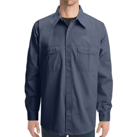 Dakota Grizzly Solid Twill Shirt - Long Sleeve (For Men) in Navy
