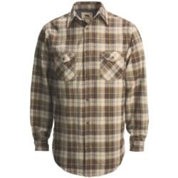 Dakota Grizzly Spencer Flannel Shirt - Long Sleeve (For Men) in Raven